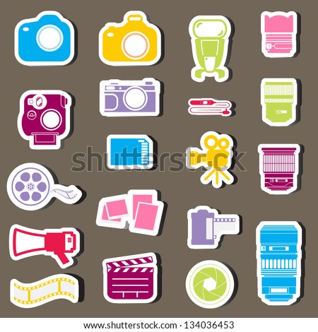 Camera vector set - stock vector