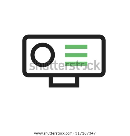 Camera, video, hd icon vector image. Can also be used for computer and hardware. Suitable for use on web apps, mobile apps and print media. - stock vector