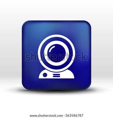 camera video icon web vector insight cam chat network. - stock vector