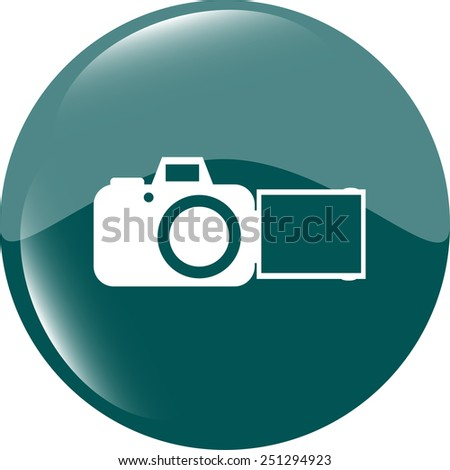 camera web icon isolated on white background - stock vector