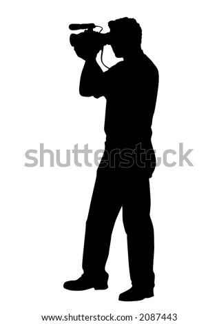 cameraman - stock vector