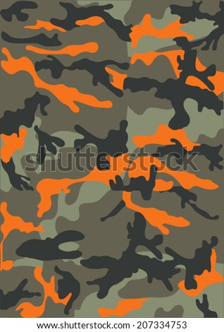 Camouflage pattern in green - stock vector