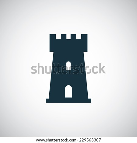 campanile icon on white background  - stock vector