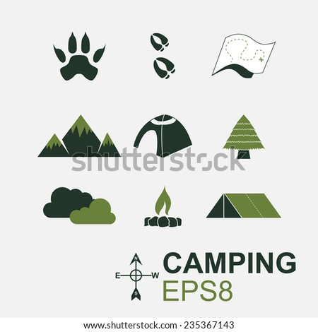 Camping Symbol in EPS8 - stock vector