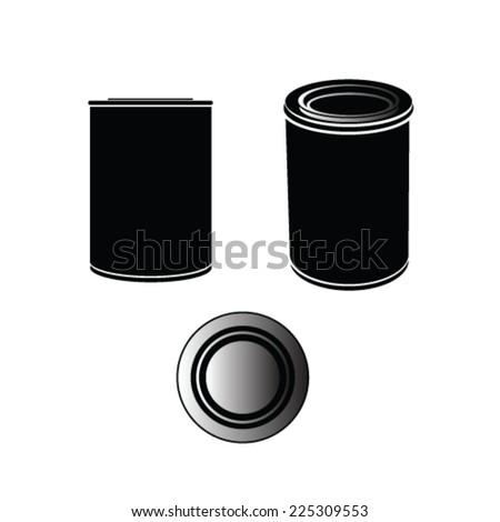 can vector illustration - stock vector