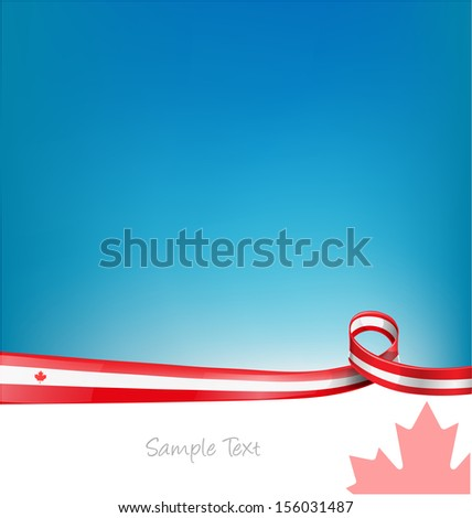 canada background with flag  - stock vector