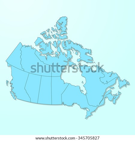 Canada blue map on degraded background vector - stock vector