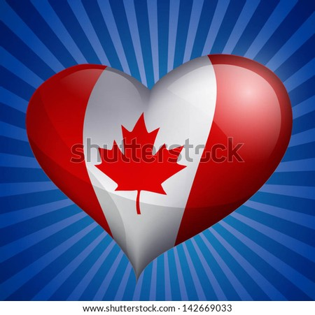 Canada Day background - stock vector