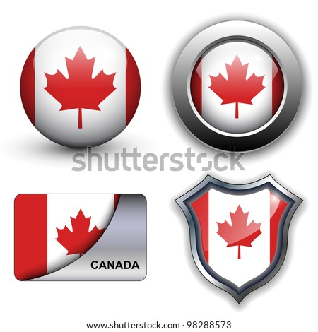 Canada flag icons theme. - stock vector