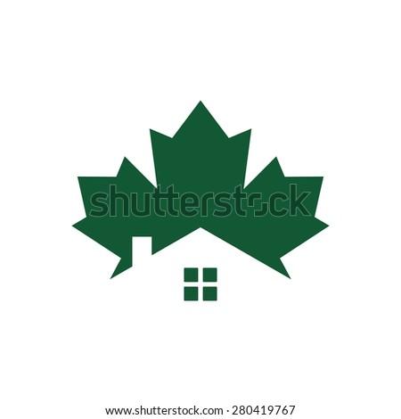 canada home real estate logo icon template vector - stock vector