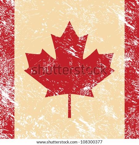 Canada retro flag - stock vector