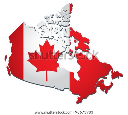Canada vector flag - stock vector