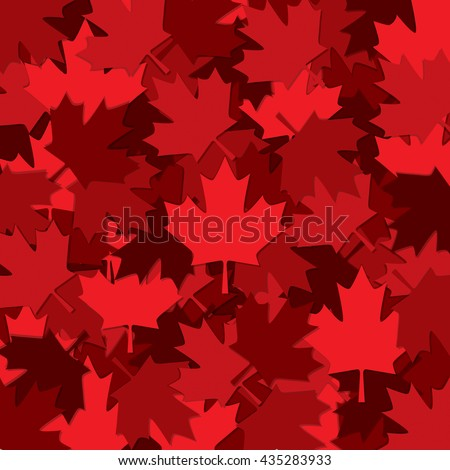 Canadian Maple leaf scatter pattern in vector format. - stock vector