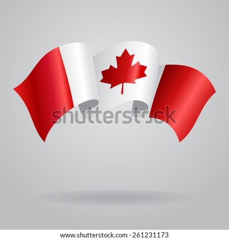 Canadian waving Flag. Vector illustration Eps 8. - stock vector
