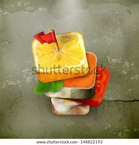 Canape icon old style vector - stock vector