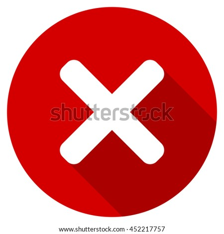 cancel vector icon, red modern flat design web element - stock vector