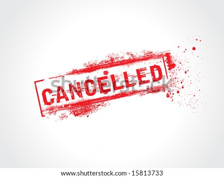 canceled grunge icon,rubber stamps - stock vector