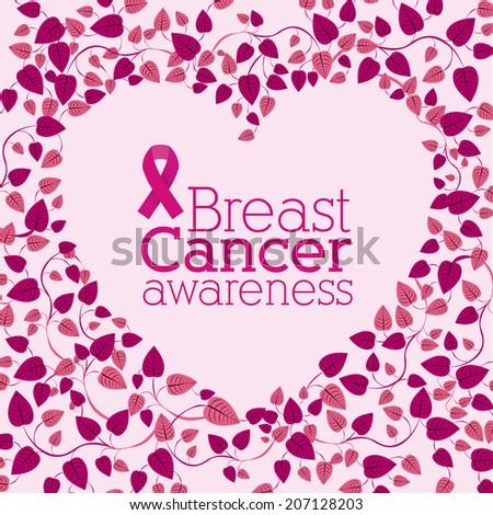 Cancer design over pink background, vector illustration - stock vector