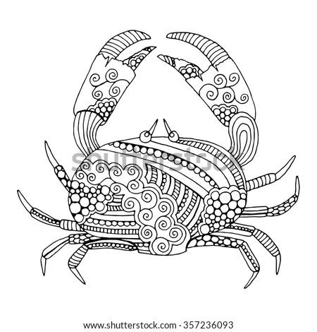 Cancer doodle illustration - stock vector