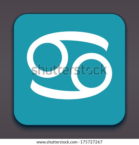 Cancer. Horoscope signs/symbols. Vector illustration/ EPS 10. Other signs are represented in the my portfolio. - stock vector