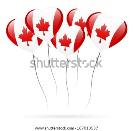 Candian inflatable balloons eps10 - stock vector