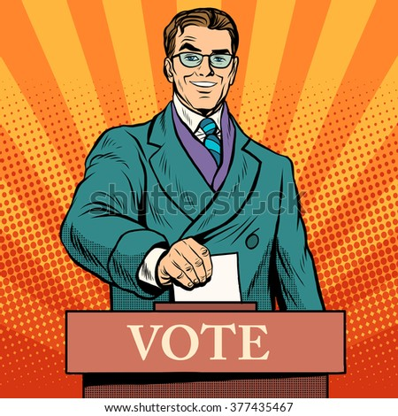 Candidate votes at the elections - stock vector