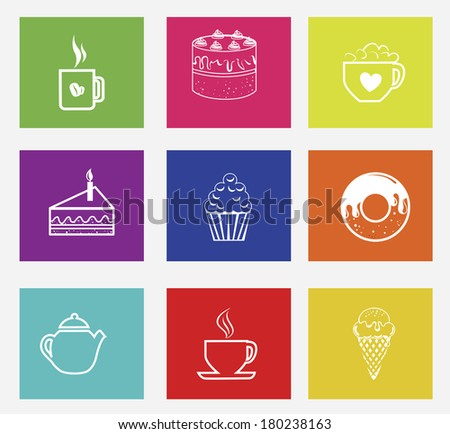 candies design over colorful background vector illustration   - stock vector