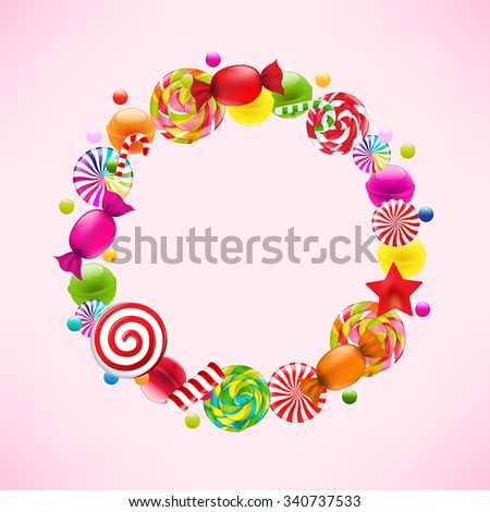 Candy Ball With Gradient Mesh, Vector Illustration - stock vector