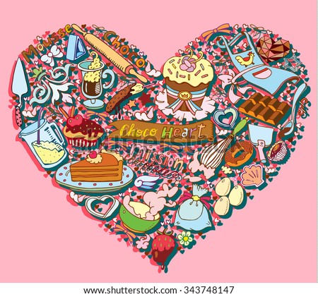 Candy Chocolate Heart - stock vector