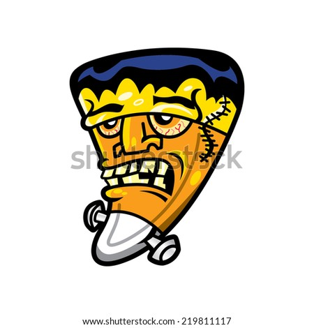 Candy Corn Frankenstein Character Icon - stock vector