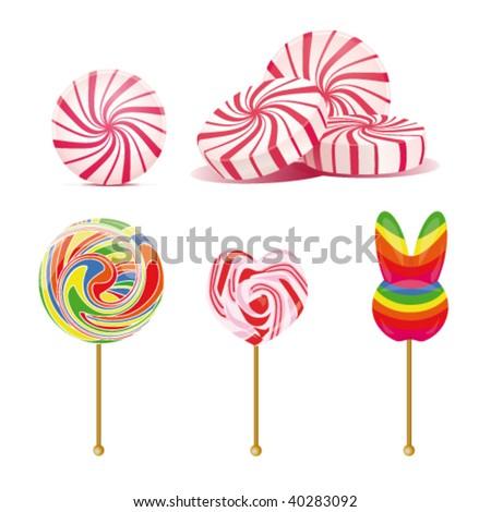 Candy lollipop - stock vector