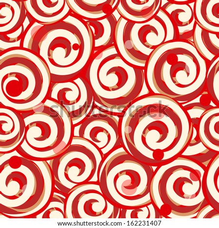 Candy lollipops seamless pattern background - stock vector