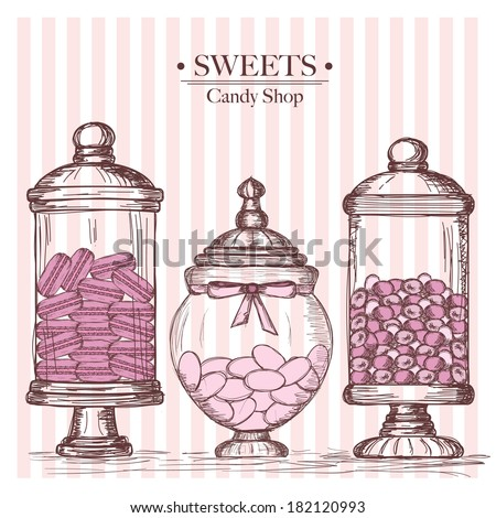 candy shop - stock vector