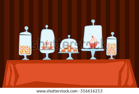 Candy shop illustration - stock vector