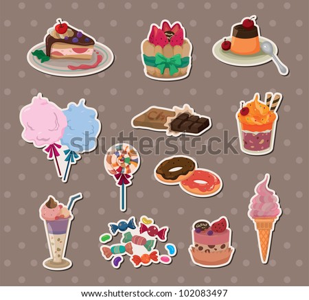 candy stickers - stock vector