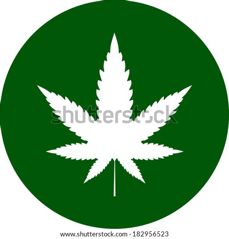 cannabis icon vector - stock vector