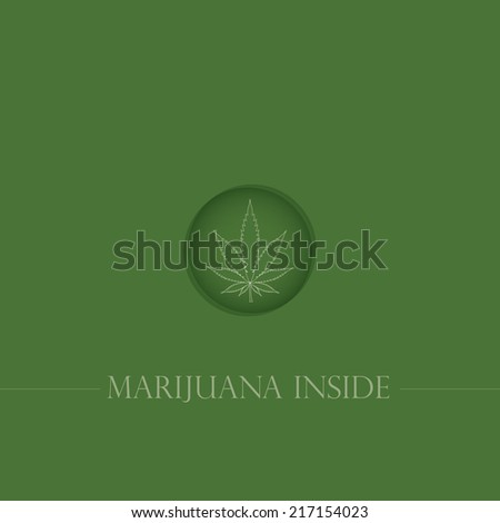 Cannabis leaf in circle. Vector illustration - stock vector