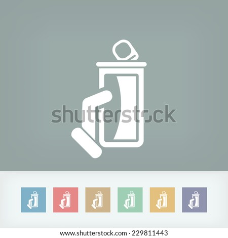 Canned drink - stock vector