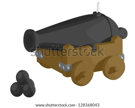 Cannon - stock vector