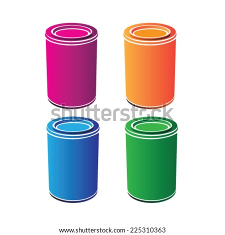 cans vector illustration - stock vector