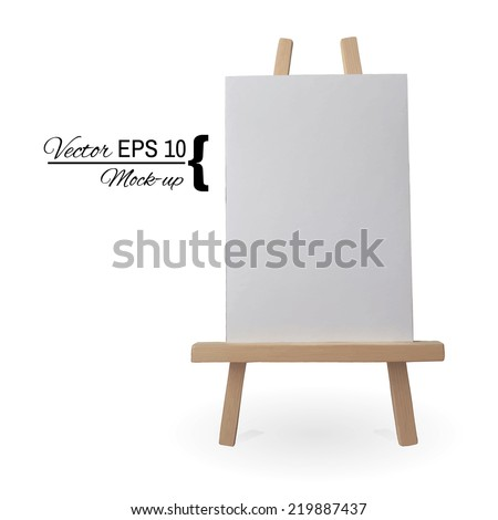 Canvas on an easel | Vector moch up - stock vector