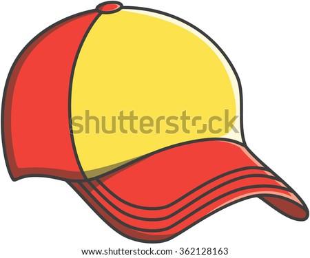Cap doodle illustration design - stock vector