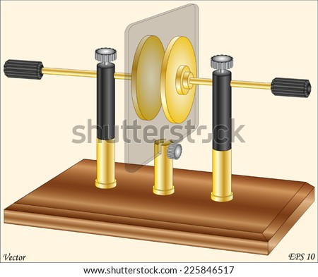Capacitor Lab - Physics Lab Equipment Instruments - stock vector