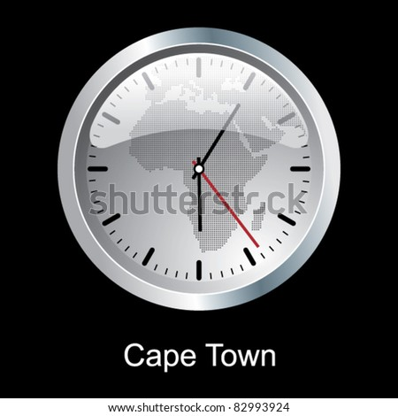 Cape Town clock. - stock vector