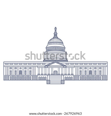 Capitol Building Illustration / Vector - stock vector