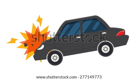 car accident crash illustration vector - stock vector