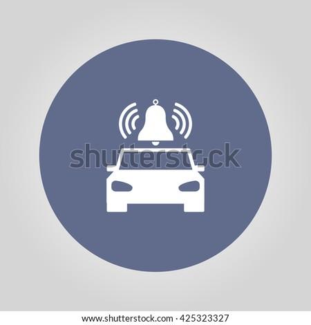 car alarm icon. Flat design style eps 10 - stock vector
