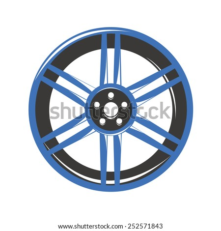 Car Alloy wheels - stock vector