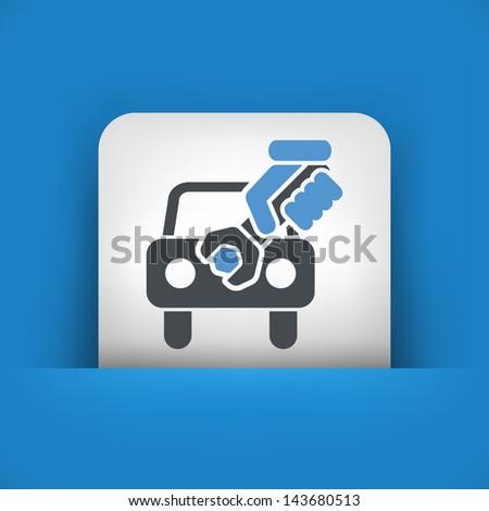 Car assistance concept icon - stock vector