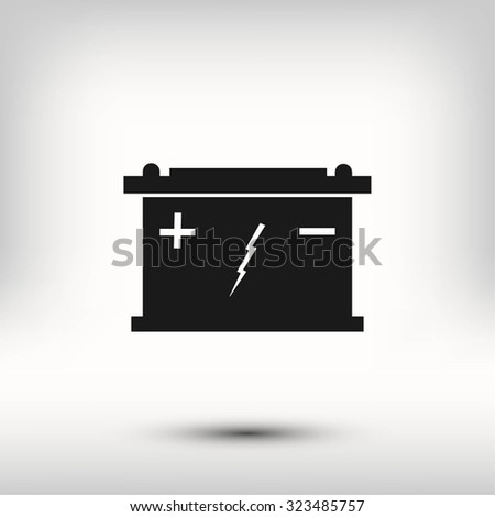 Car battery icon - stock vector